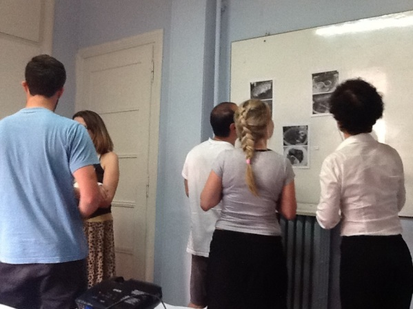 Students engaged in an activity during a Module 2 teaching assessment