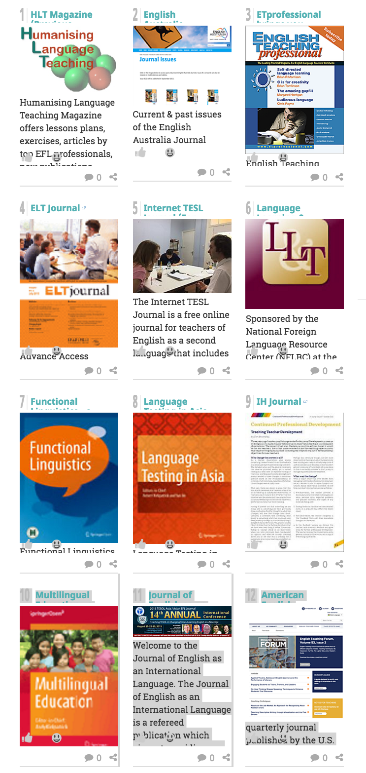 Online Journals for English Language Teachers A Listly List